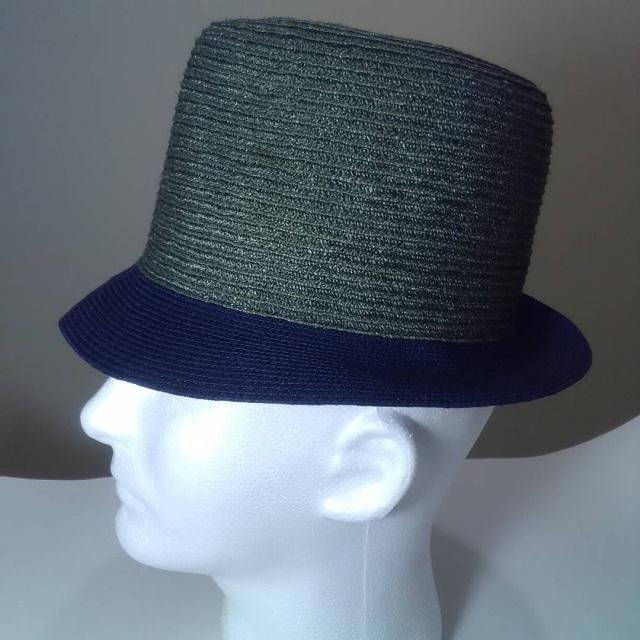 5492027567250 Hunter Green and Navy High Crown Fedora Men s Hat